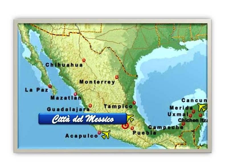 Messico Cartina Geografica